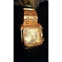Relógio Diesel Quadrado Dourado Frete Grátis
