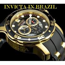 Relógio Invicta Pro Diver Original 6981 Banhado Ouro 18k