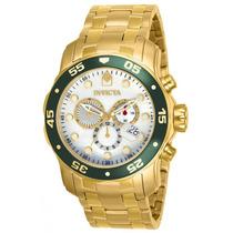 Invicta Pro Diver Scuba Swiss Chronograph Banhado Ouro 18k