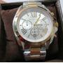 Michael Kors Mk5627 Bradshaw Silver Gold Chrono Dial Com Box