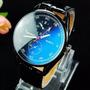 Relogio Masculino Quartzo Casual Chronograph Reflexo Azul