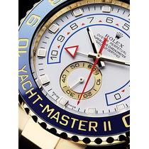 Relogio Masculino Dourado Yacht Master Il Branco Automatico