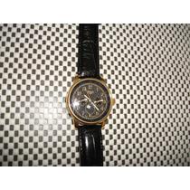 Relógio Trias Eleganter Chronograph.alemão Banhado Ouro Box.