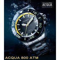 Relógio Technos Acqua 800 Atm 8215ah/5p Titanium Automático