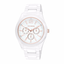 Relógio Branco De Cerâmica 6p29iq/1b Multifunção Grande 5atm