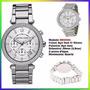 Relógio Michael Kors Mk5353 Cristal Silver 39mm Midsized !