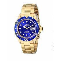 Relógio Masculino Invicta Pro Diver 9312 Luxo Dourado Gold
