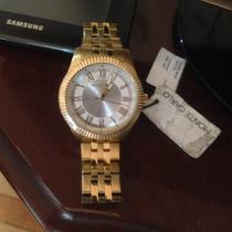 Relógio Monte Carlo - Dourado - Pronta Entrega