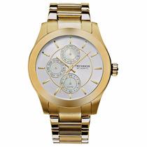 Relógio Technos 6p27cg/4k Dourado Pulseira Aço 5 Atm Nfe