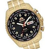 Relógio Orient Dourado Automático 469gp057 P1kx 21 Rubis
