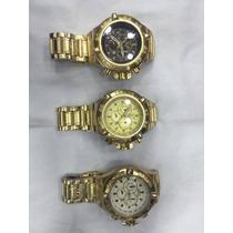 Relógio Masculino Subaqua Noma Dourado Ostentação
