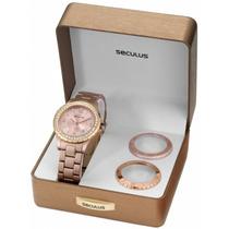 Relógio Seculus Versatile Feminino Kit Moda 20026lpsfrl3