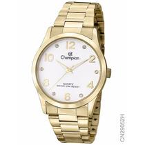 Relógio Champion Dourado Feminino Cn29052h Original