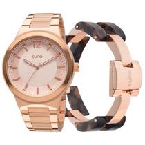 Kit Relógio Feminino Sibiu Rose Gold - Eu2035lrr/4t Euro