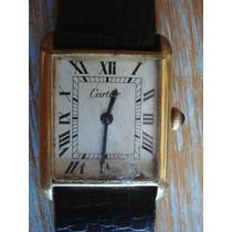 Relógio Cartier Plaquê Ouro Antigo Coleção Suiço