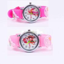 Relógio Barbie Infantil Criança Pulseira 3d