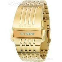 Relógio Diesel Iron Man Dourado Ouro Gold Frete Sedex Grátis