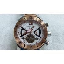 Relógio Masculino Bv Rose Prata Com Fundo Branco