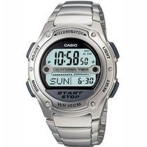 Relógio Casio W-756 Aço C/9 Temporizadoresw753 W96 W756