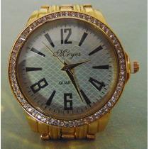 Relógio Mryes Scuba Branco Pulseira Em Aço Série Ouro