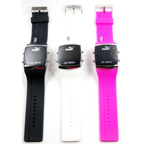 Relogio Puma Led Digital Sport Black - White - Pink Unisex