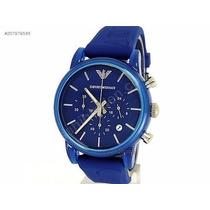 Relogio Emporio Armani Ar1058 Azul Frete Gratis Garantia