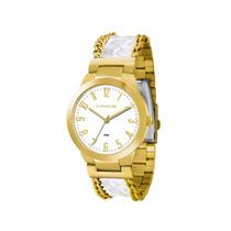 Relógio Lince Dourado Feminino (orient) Lrc4238l B2bk