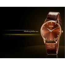 Elegante Relógio Analógico Unissex Social De Luxo M/ Sinobi
