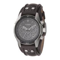Relógio Masculino Fossil Coachman Fch2586/z Pulseira Couro
