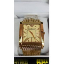 Relógio Bracelete Empório Armani Folheado A Ouro