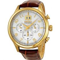 Relógio Seiko Spc088p1 Masculino Cronografo Couro Dourado