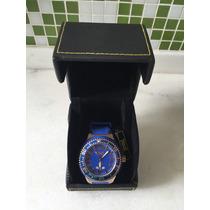 Relógio Everlast E406 Azul Rose Caixa Novo