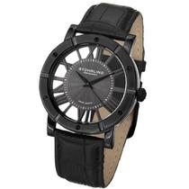 Relógio Stuhrling Original Couro Preto Quartzo Importado