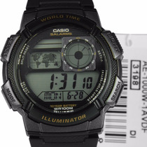 Relogio Original Casio Ae-1000w-1mapa H.mundi-crono-timer