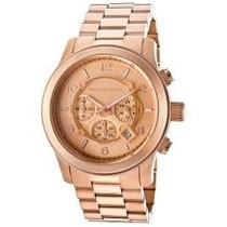 Relógio Michael Kors Mk8096 Ouro Rosé Original Garantia*