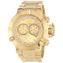 Relógio Invicta Subaqua Noma 3 Iii 14500 14501 Gold 18k Novo