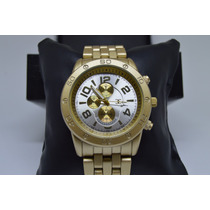 Relógio Feminino Pulseira Aço Dourado Rose Prateado Garantia