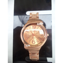 Relógio Feminino Pulseira Rose C/ Strass.