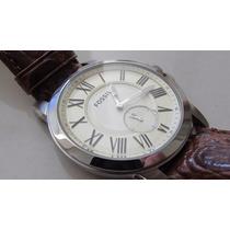 Relógio Masculino Fossil Fs4963/0xn - Fino E Social!