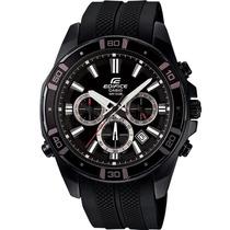 Relógio Casio Edifice Cronógrafo Caixa Aço Pu Borracha Wr100