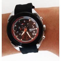 Relógio Masculino Caixa Grande Marca Seculus Original 10atm