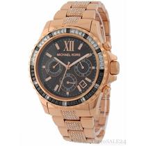 Relógio Michael Kors Mk5875 Dourado C/ Cristais Frete Gratis
