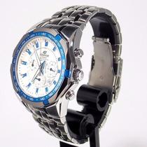 Ef-540d 7a2vdf Relogio Edifice Casio Watch Steel White Blue