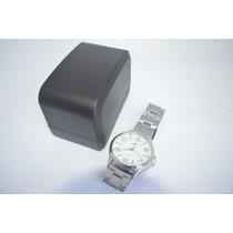 Relógio Prata E Branco Simples Elegante Promoção B35