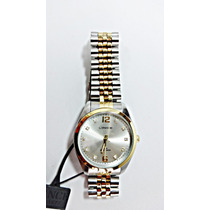 Relógio Lince Orient Bicolor Strass 30m Frete Grátis Lc03