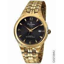 Relógio Barato Original Champion Ca21384u Dourado Promoção