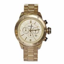 Relógio Fossil Bq1049 Dourado Chronograph Original Garantia