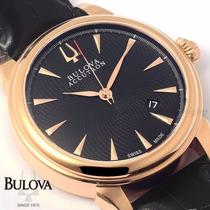 Bulova Accutron Ouro Rose 18k Automático Gmt De $7.280 Por