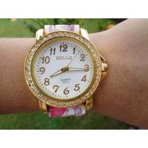 Relógio Feminino Belux Com Stras