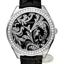 Relógio Guess Crystal Prata Pulseiras Rosa Preta Branca